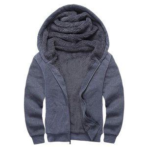 Heavyweight Fleece Sherpa Zipper Hoodie Jacket